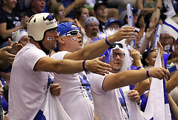 September 16, 2018 - Varna, Bulgaria - Finish fans in the tiebreak.FIVB Volleyball Men's World Championship 2018, pool D, Puerto Rico vs Finland, Sept 16, 2018, . Palace of Culture and Sport, Varna/Bulgaria, .the teams of Finland, Cuba, Puerto Rico, Poland, Iran and co-host Bulgaria are playing in pool D in the preliminary round. (Credit Image: © Wolfgang Fehrmann/ZUMA Wire)
