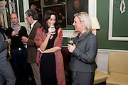 SASHA NOTLEY; KERRY O'CONNOR, Streetsmart 2009 - campaign launch. The House Of St Barnabus, 1 Greek Street, Soho Square, London W1, <br /> Homeless charity hosts party to launch latest fundraising campaign. Throughout November and December, customers at participating restaurants will be asked to donate one pound to help those living rough. 27 October 2009