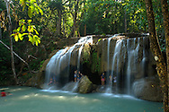 Erawan Waterfalls, Erawan National Park, Thailand