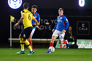 Andy Cannon (14) of Portsmouth on the attack during the Leasing.com EFL Trophy match between Oxford United and Portsmouth at the Kassam Stadium, Oxford, England on 8 October 2019.