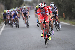 March 18, 2017 - San Remo, Italie - SANREMO, ITALY - MARCH 18 : CATTANEO Mattia (ITA) Rider of Androni Giocattoli in action on the Cipressa climb during the UCI WorldTour 108th Milan - Sanremo cycling race with start in Milan and finish at the Via Roma in Sanremo on March 18, 2017 in Sanremo, Italy, 18/03/2017 (Credit Image: © Panoramic via ZUMA Press)
