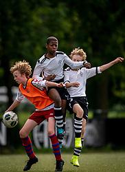 Shanun #14 of VV Maarssen , Mink #11 of VV Maarssen in action. VV Maarssen O14-1 played a friendly game against CDW O15-2. Maarssen won 9-2 on July 11, 2020 at Daalseweide sports park Maarssen.