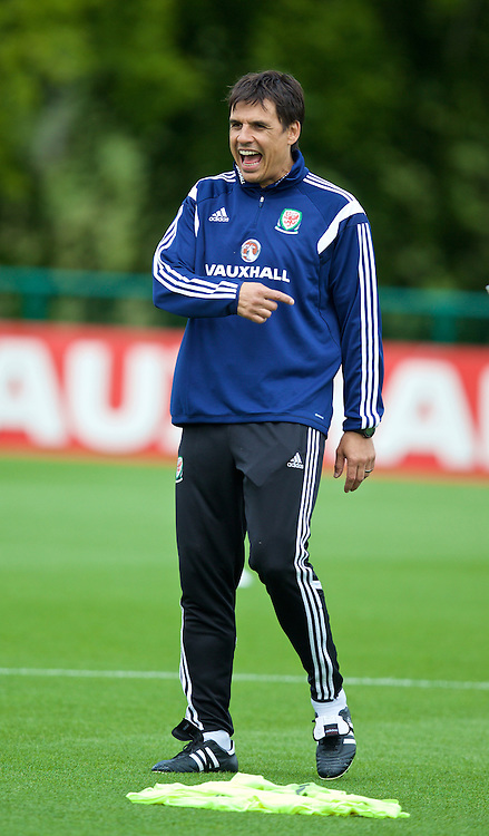 CARDIFF, WALES - Monday, June 8, 2015: Wales' manager Chris Coleman during a training session at the Vale of Glamorgan ahead of the UEFA Euro 2016 Qualifying Round Group B match against Belgium. (Pic by David Rawcliffe/Propaganda)