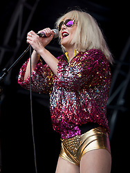 Dirty Harry performing at Party At The Palace Music Festival in Linlithgow Palace grounds on Sunday 14th August 2016.<br /> <br /> Alan Rennie/ EEm