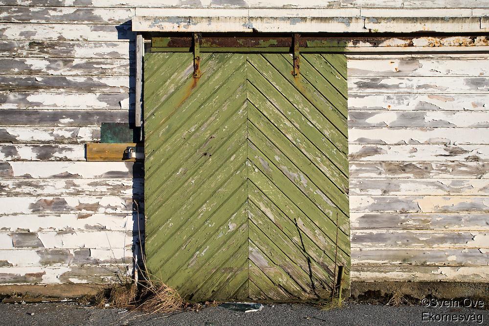 Ei grønn dør.<br /> Foto: Svein Ove Ekornesvåg