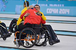 Gregor Ewan, Qiang Zhang, Wheelchair Curling Finals at the 2014 Sochi Winter Paralympic Games, Russia