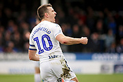 Wycombe midfielder Matthew Bloomfield (10) celebrates his goal during the EFL Sky Bet League 1 match between Peterborough United and Wycombe Wanderers at London Road, Peterborough, England on 2 March 2019.