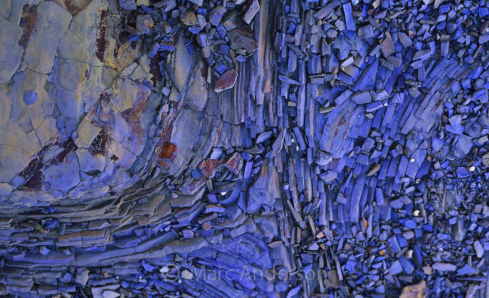 Patterns in Shale rock, Royal National Park, Australia.