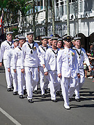 Navy sailors from HMAS Wewak marching during Port Douglas ANZAC Day parade 2009.