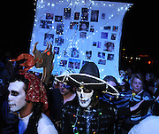 Participants of the All Souls Procession honor the deceased in Tucson, Arizona, USA.