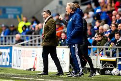 Bristol City Head Coach Lee Johnson and Cardiff City manager Neil Warnock - Mandatory by-line: Robbie Stephenson/JMP - 10/11/2019 -  FOOTBALL - Cardiff City Stadium - Cardiff, Wales -  Cardiff City v Bristol City - Sky Bet Championship