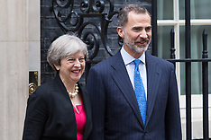 2017-07-13 King Felipe of Spain visits British Prime Minister Theresa May at 10 Downing Street