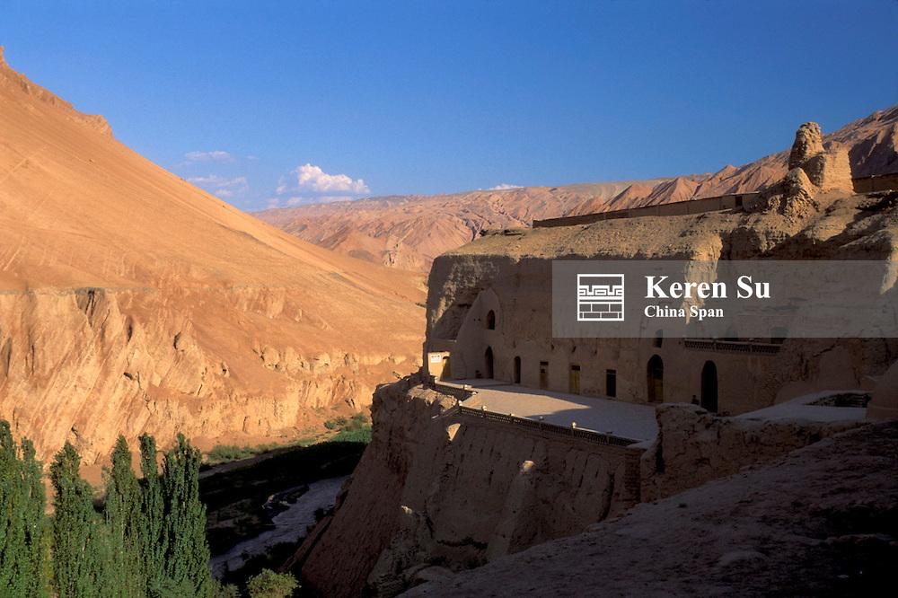 Bezeklik Buddhist Cave on Flaming Mountain, Kashgar, Xinjiang Province, Silk Road, China