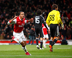 08.12.2010, Emirates Stdium, London, ENG, UEFA CL, FC Arsenal vs Partizan Belgrade, im Bild Arsenal's Theo Walcott celebrates, EXPA Pictures © 2010, PhotoCredit: EXPA/ IPS/ Kieran Galvin+++++ ATTENTION - OUT OF ENGLAND/GBR+++++