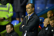 Roberto Martinez during the Capital One Cup match between Reading and Everton at the Madejski Stadium, Reading, England on 22 September 2015. Photo by Adam Rivers.
