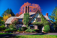 Tudor style home, Danbury, Connecticut USA