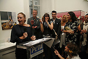 Stella McCartney, Dave Mathews, Chrissie Hynde and Mary McCartney. PETA's Humanitarian Awards, Stella McCartney, Bruton Street, London, W1. 28 June 2006. ONE TIME USE ONLY - DO NOT ARCHIVE  © Copyright Photograph by Dafydd Jones 66 Stockwell Park Rd. London SW9 0DA Tel 020 7733 0108 www.dafjones.com