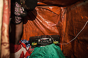 Poor hovel of a 17 years old prostitute.<br /> <br /> Addis Ababa, Ethiopia, 23-01-2013.<br /> <br /> To protect the identities of the recorded subjects names are omitted
