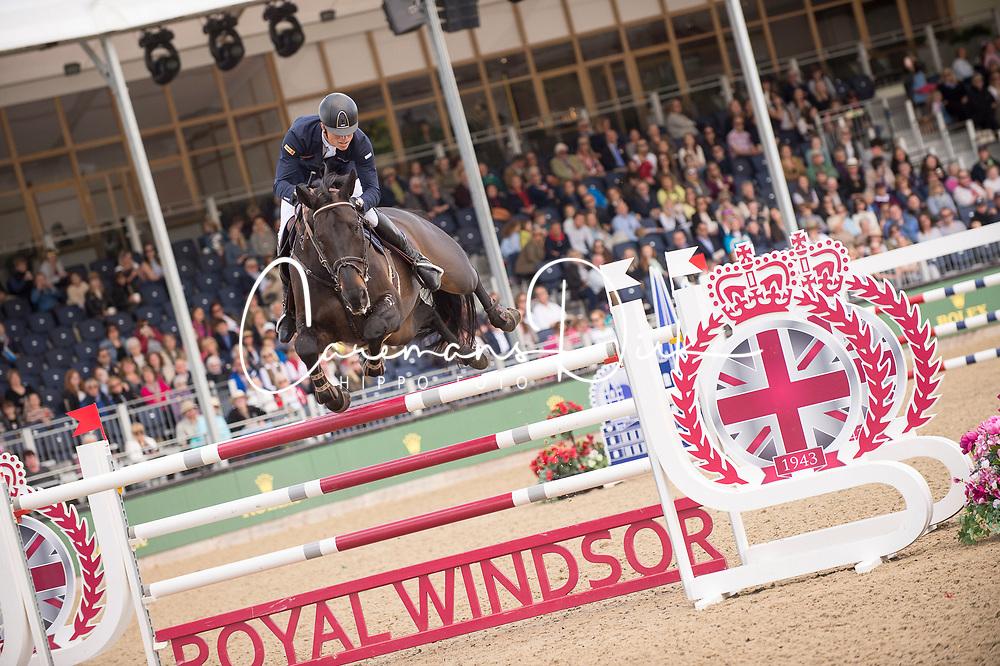 Kuhner Max, AUT, Cornet Kalua<br /> Rolex Grand Prix Jumping<br /> Royal Windsor Horse Show<br /> &copy; Hippo Foto - Jon Stroud