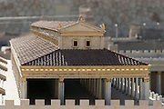 "Israel, Jerusalem, ""The Temple of Solomon"". A model in the Israel Museum, Israel."
