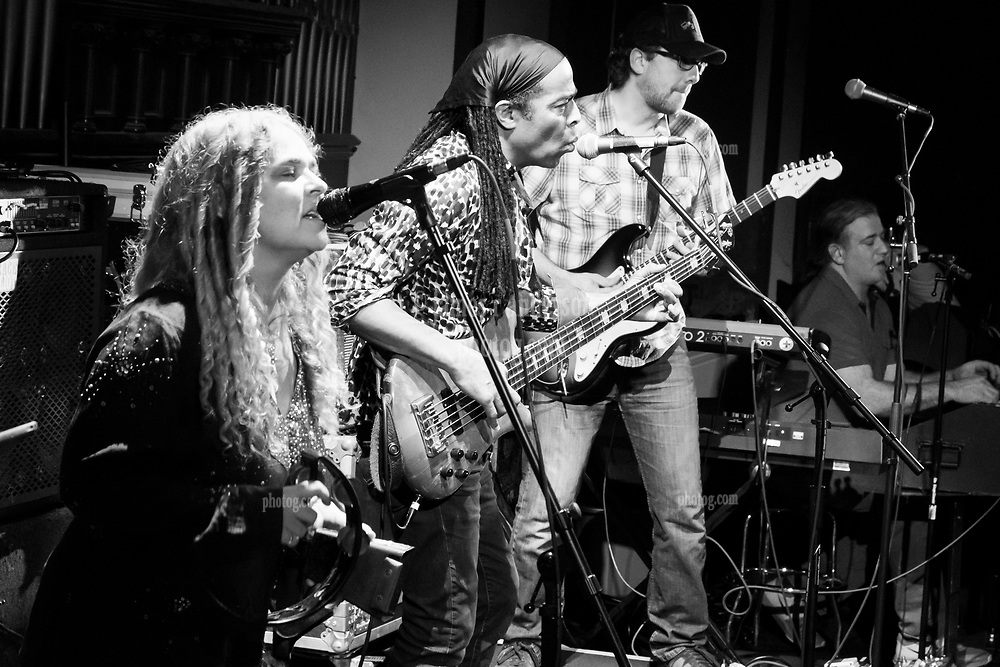 Jen Durkin, Doug Wimbish and Tim Palmieri with Steal Your Funk at The Stone Church Brattleboro VT on 7 April 2018