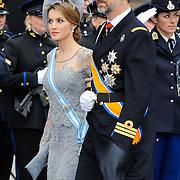 NLD/Amsterdam/20130430 - Inhuldiging Koning Willem - Alexander, princess Letitzia and partner prince FIlipe