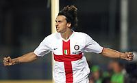 Empoli 01/09/2007<br /> Campionato Italiano Serie A 2007/08<br /> Empoli-Inter (0-2)<br /> Photo Luca Pagliaricci INSIDE<br /> ricci INSIDE<br /> Esultanza Zlatan Ibrahimovic (Inter) dopo il gol dell'1-0 <br /> Zlatan Ibrahimovic (Inter) celebrates after scoring first goal