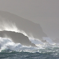 Stormy irish weather at southwest coastline of County Kerry, Ireland / sm014