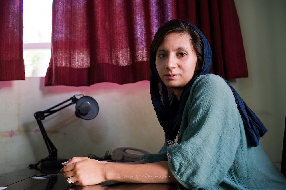 Noorjahan Akbar, co-founder of Young Women for Change, women's rights organization that works for gender equality in Afghanistan. Kabul, 2012
