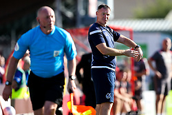 Bristol Rovers manager Graham Coughlan points at his watch - Mandatory by-line: Robbie Stephenson/JMP - 14/09/2019 - FOOTBALL - Sincil Bank Stadium - Lincoln, England - Lincoln City v Bristol Rovers - Sky Bet League One