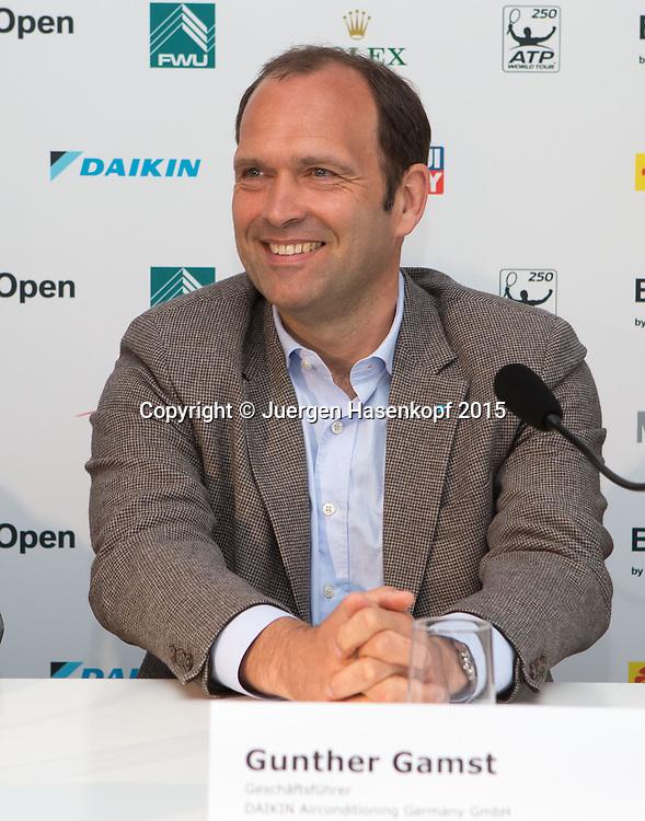 Pressekonferenz mit Michael Kohlmann, Helmut Schmidbauer, Gunther Gamst und Hans Hauska, Daikin Jungprofi Team<br /> <br /> Tennis - BMW Open - ATP -   - Muenchen - Bayern - Germany  - 28 April 2015. <br /> &copy; Juergen Hasenkopf