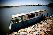 An abandoned houseboat in the Delta, August 4, 2009.