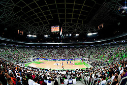 Arena Stozice during basketball match between KK Union Olimpija and FC Barcelona Regal of 1st Round in Group D of Regular season of Euroleague 2011/2012 on October 20, 2011, in Arena Stozice, Ljubljana, Slovenia. Barcelona defeated Union Olimpija 86-64. (Photo by Vid Ponikvar / Sportida)