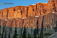 First light on the Chinese Wall in the Bob Marshall Wilderness, Montana, USA