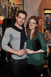 ROSE LESLIE and DOMINIC ALLBURN at the opening of the new Jack Spade store at 83 Brewer street, London on 29th March 2012.