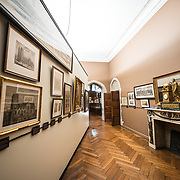 Paintings and etchings on display at the Museum of the City of Brussels. The museum is dedicated to the history and folklore of the town of Brussels, its development from its beginnings to today, which it presents through paintings, sculptures, tapistries, engravings, photos and models.