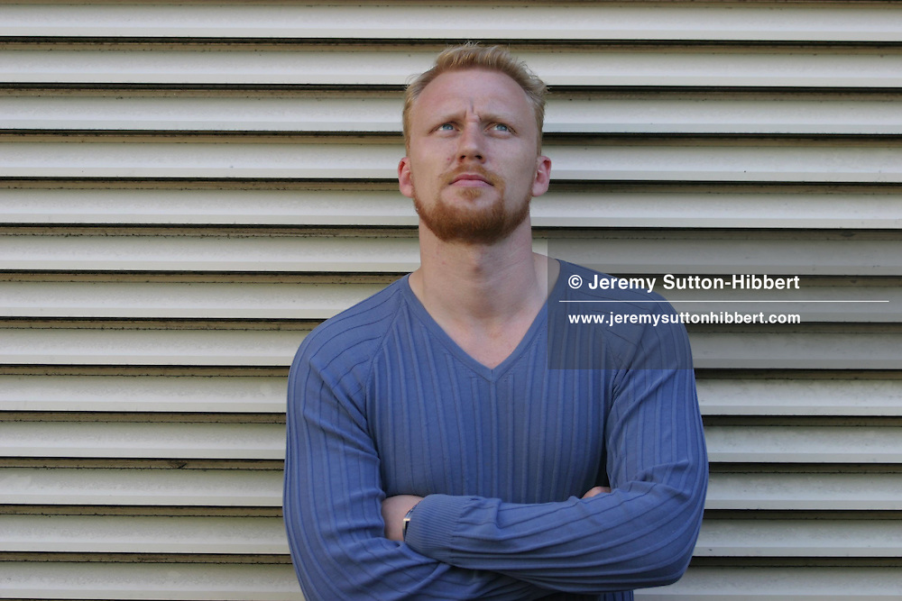 Kevin McKidd, actor in '16 Years of Alcohol', and 'Trainspotting'...Edinburgh Film Festival 2003.Edinburgh, Scotland.
