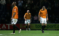 Photo: Paul Thomas/Sportsbeat Images.<br /> Preston North End v Hull City. Coca Cola Championship. 04/12/2007.<br /> <br /> Hull's Dean Marney (R) and Caleb Forlan (L) shows thier dejection after Preston score.