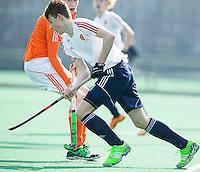 ROTTERDAM -    from England.    Practice Match  Hockey : Netherlands Boys U16  v England U16 . COPYRIGHT KOEN SUYK