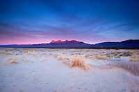 Sunset Alpenglow on Providence Mountains, Mojave National Preserve, California