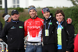 Igor Bertoncelj, Luka Zele, Danijel Kvasina and Marko Dzalo during the Men´s Under 23 Road Race on day five of the UCI Road World Championships on September 23, 2011 in Copenhagen, Denmark. (Photo by Marjan Kelner / Sportida Photo Agency)