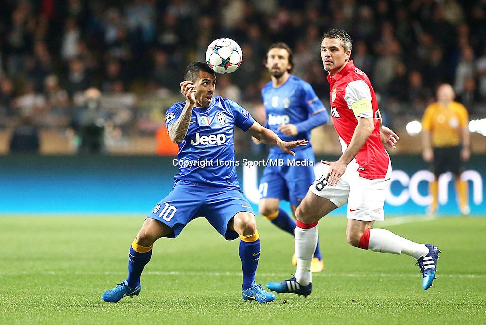 Carlos TEVEZ - 22.04.2015 - Monaco / Juventus Turin - 1/4Finale retour Champions League<br /> Photo : Serge Haouzi / Icon Sport