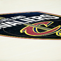 CLEVELAND, OH - JUN 3: Close view of the Cavaliers court logo in Game Three of the 2018 NBA Finals won 110-102 by the Golden State Warriors over the Cleveland Cavaliers at the Quicken Loans Arena on June 6, 2018 in Cleveland, Ohio. NOTE TO USER: User expressly acknowledges and agrees that, by downloading and or using this photograph, User is consenting to the terms and conditions of the Getty Images License Agreement. Mandatory Copyright Notice: Copyright 2018 NBAE (Photo by Chris Elise/NBAE via Getty Images)