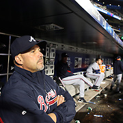 NEW YORK, NEW YORK - MAY 02:  Atlanta Braves Manager Fredi Gonzalez in the dugout during the Atlanta Braves Vs New York Mets MLB regular season game at Citi Field on May 02, 2016 in New York City. (Photo by Tim Clayton/Corbis via Getty Images)