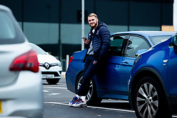 Jordan Nicholls of Bristol Flyers heads towards the bus before leaving the Village Hotel to travel to Worcester Wolves - Photo mandatory by-line: Ryan Hiscott/JMP - 01/11/2019 - BASKETBALL - University of Worcester - Bristol, England - Worcester Wolves v Bristol Flyers - British Basketball League Cup