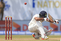 July 27, 2017 - Galle, Sri Lanka - Indian cricketer Wriddhiman Saha ducks under a bouncer ball  during  the 2nd Day's play in the 1st Test match between Sri Lanka and India at the Galle International cricket stadium, Galle, Sri Lanka on Thursday 27 July 2017. (Credit Image: © Tharaka Basnayaka/NurPhoto via ZUMA Press)