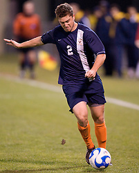 Virginia midfielder/defender Chris Tierney (2)..The West Virginia Mountaineers defeated the Virginia Cavaliers 1-0 in the second round of the 2007 NCAA Men's Soccer Tournament at Dick Dlesk Stadium in Morgantown, WV on November 28, 2007.