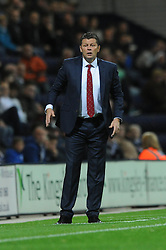 Bristol City manager, Steve Cotterill - Mandatory byline: Dougie Allward/JMP - 07966386802 - 15/09/2015 - FOOTBALL - Deepdale Stadium -Preston,England - Bristol City v Preston North End - Sky Bet Championship