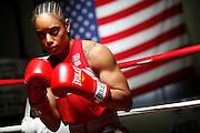 6/24/11 2:36:02 PM -- Colorado Springs, CO. -- A portrait of U.S. Olympic lightweight boxer Queen Underwood, 27, of Seattle, Wash. who will be competing for her fifth title. She began boxing in 2003 and was the 2009 Continental Champion and the 2010 USA Boxing National Champion. She is considered a likely favorite to medal at the 2012 Summer Olympics in London as women's boxing makes its debut as an Olympic sport. -- ...Photo by Marc Piscotty, Freelance.