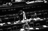ROME, ITALY - 25 February 2014:  Matteo Renzi, 39, the youngest prime minister in held a spoke to lawmakers before the Lower House approved a confidence vote on his new government in Rome, Italy, on February 25th 2014.